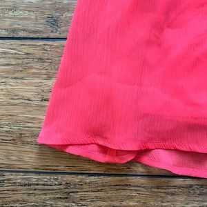 Express Dresses - Express - Hot Pink Two Layer Cinched Waist Dress